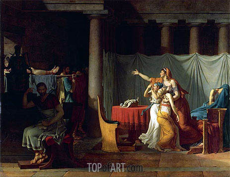 Lictors Bearing to Brutus the Bodies of his Sons, 1789 | Jacques-Louis David | Gemälde Reproduktion