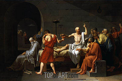 The Death of Socrates, 1787 | Jacques-Louis David | Gemälde Reproduktion