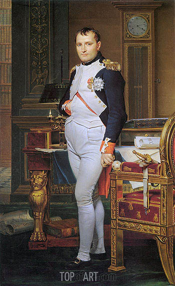 The Emperor Napoleon in His Study at the Tuileries, 1812 | Jacques-Louis David | Gemälde Reproduktion