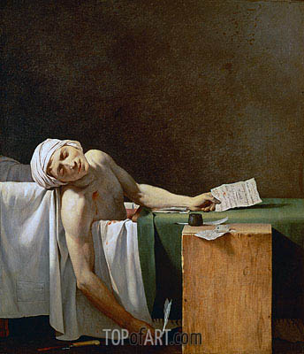 Assassination of Jean-Paul Marat in His Bath, 1793 | Jacques-Louis David | Painting Reproduction