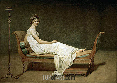 Mme Recamier nee Julie Bernard, 1800 | Jacques-Louis David | Painting Reproduction