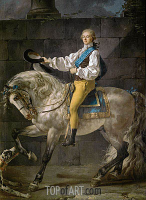 Count Stanislas Potocki, 1781 | Jacques-Louis David | Painting Reproduction