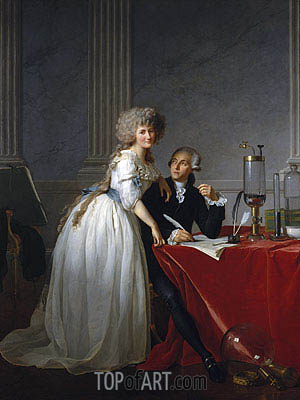 Antoine-Laurent Lavoisier and His Wife Marie-Anne-Pierrette Paulze, 1788 | Jacques-Louis David | Gemälde Reproduktion