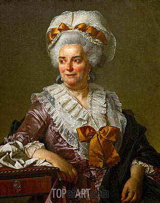Genevieve Jacqueline Pecoul (the Painter's Mother-in-Law), 1784 | Jacques-Louis David | Painting Reproduction