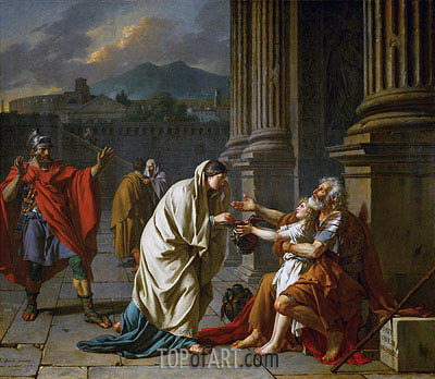 Belisarius Begging for Alms, 1784 | Jacques-Louis David | Painting Reproduction