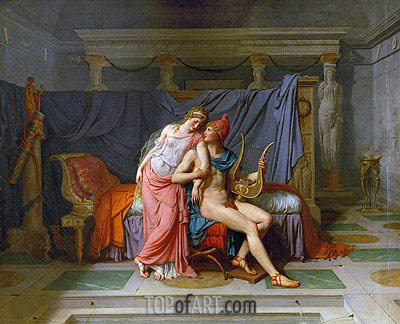 The Love of Paris and Helen, 1789 | Jacques-Louis David | Painting Reproduction