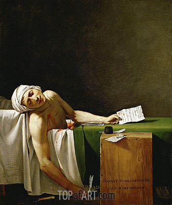 Assassinated Marat in His Bathtub, 1793 | Jacques-Louis David | Painting Reproduction