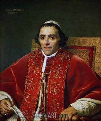 Pope Pius VII, 1805 | Jacques-Louis David | Painting Reproduction