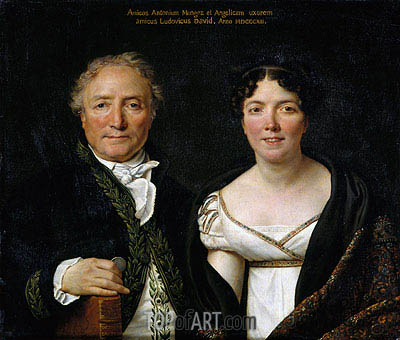 Mr. and Mrs. Antoine Mongez, 1812 | Jacques-Louis David | Painting Reproduction