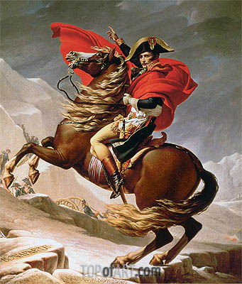 Napoleon Crossing the Alps, c.1800 | Jacques-Louis David | Painting Reproduction