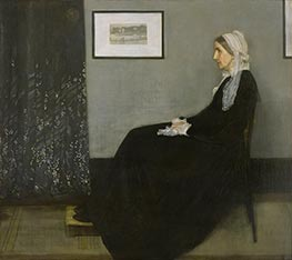 Whistler's Mother, c.1834 by James McNeill Whistler | Painting Reproduction