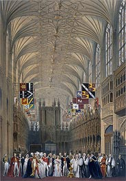 Interior of St George's Chapel, 1838 by James Baker Pyne | Painting Reproduction