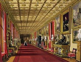 South Corridor, Windsor Castle, 1838 von James Baker Pyne | Gemälde-Reproduktion