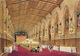 St George's Hall, Windsor Castle, 1838 von James Baker Pyne | Gemälde-Reproduktion