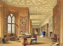 The Library, Windsor Castle, 1838 von James Baker Pyne | Gemälde-Reproduktion