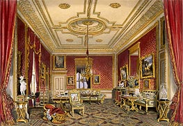 The Queen's Private Sitting Room, Windsor Castle, 1838 by James Baker Pyne | Painting Reproduction
