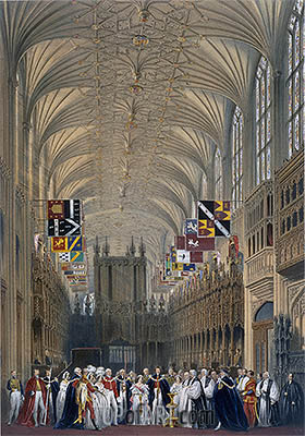 Interior of St George's Chapel, 1838 | James Baker Pyne | Painting Reproduction