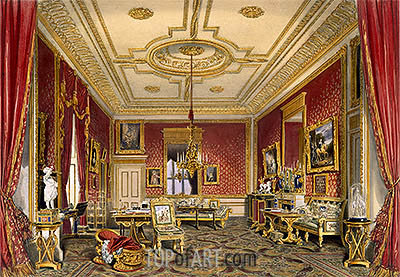 The Queen's Private Sitting Room, Windsor Castle, 1838 | James Baker Pyne | Painting Reproduction