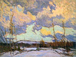 March Evening, Northland, 1914 by James Edward Hervey Macdonald | Painting Reproduction