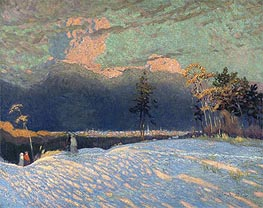 The Edge of the Town, Winter Sunset, 1914 von James Edward Hervey Macdonald | Gemälde-Reproduktion