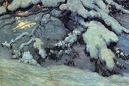 Snowbound, 1915 von James Edward Hervey Macdonald | Gemälde-Reproduktion