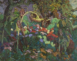 The Tangled Garden, 1916 by James Edward Hervey Macdonald | Painting Reproduction