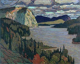 The Solemn Land, 1921 by James Edward Hervey Macdonald | Painting Reproduction