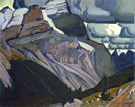 Dark Autumn, Rocky Mountains, 1930 von James Edward Hervey Macdonald | Gemälde-Reproduktion