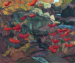 Rowanberries or Mountain Ash, 1922 by James Edward Hervey Macdonald | Painting Reproduction