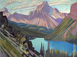 Lake O'Hara and Cathedral Mountain, Rockies, 1928 von James Edward Hervey Macdonald | Gemälde-Reproduktion