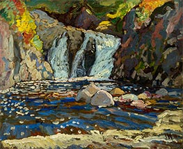 The Little Falls, 1918 by James Edward Hervey Macdonald | Painting Reproduction