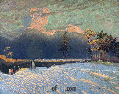 The Edge of the Town, Winter Sunset, 1914 | James Edward Hervey Macdonald | Painting Reproduction