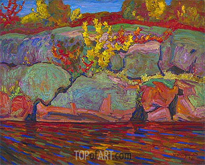 Autumn Colours (Rock and Maple), 1916 | James Edward Hervey Macdonald | Painting Reproduction