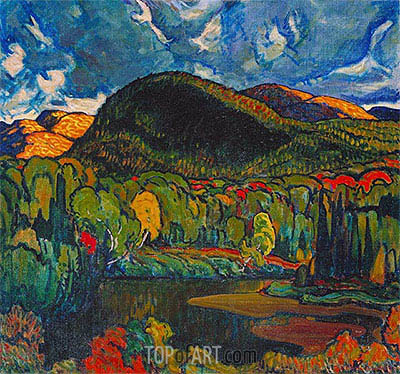 Gleams on the Hills, 1921 | James Edward Hervey Macdonald | Painting Reproduction