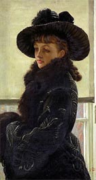 Mavourneen (Portrait of Kathleen Newton), 1877 by Joseph Tissot | Painting Reproduction