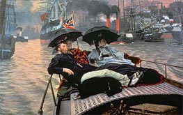 The Thames, c.1876 by Joseph Tissot | Painting Reproduction