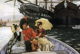 Portsmouth Dockyard, 1877 by Joseph Tissot | Painting Reproduction