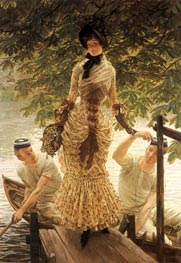 On the Thames | Joseph Tissot | Painting Reproduction