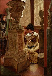 In the Louvre | Joseph Tissot | Painting Reproduction
