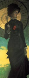 Mrs. Newton with a Parasol | Joseph Tissot | Painting Reproduction
