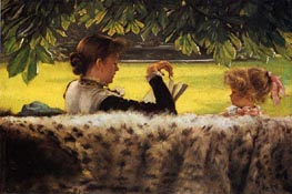 Reading a Story | Joseph Tissot | Painting Reproduction