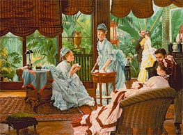 In the Conservatory (The Rivals) | Joseph Tissot | Painting Reproduction