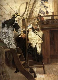 Boarding the Yacht | Joseph Tissot | Painting Reproduction