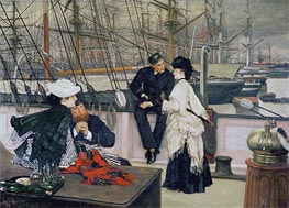 The Captain and the Mate | Joseph Tissot | Painting Reproduction