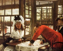 An Interesting Story, 1872 by Joseph Tissot | Painting Reproduction