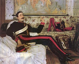 Captain Frederick Gustavus Burnaby, 1870 by Joseph Tissot | Painting Reproduction
