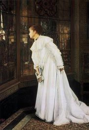 The Stairs (The Staircase), 1869 by Joseph Tissot | Painting Reproduction