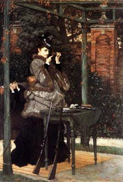 At the Rifle Range, 1869 by Joseph Tissot | Painting Reproduction