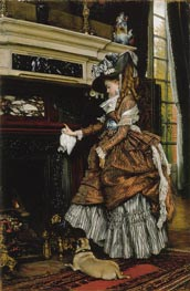 The Fireplace, c.1869 by Joseph Tissot | Painting Reproduction