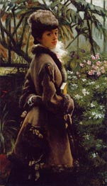 In the Greenhouse, c.1867/69 by Joseph Tissot | Painting Reproduction